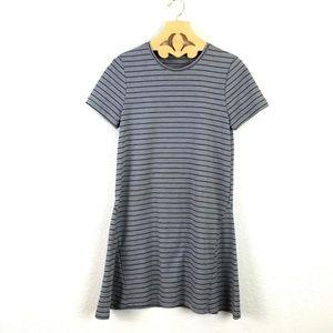 Zara   Striped Short Sleeve Dress